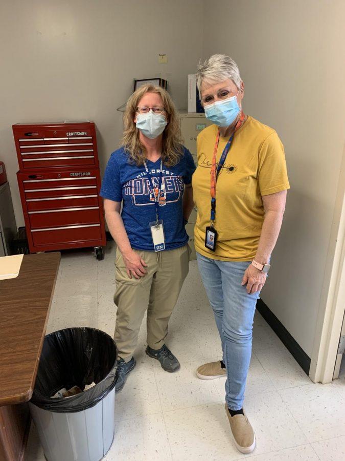 Nurse Mandy and Nurse Julie at Hillcrest High School